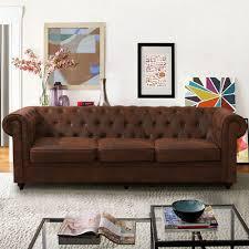 vintage distressed leather sofa settee