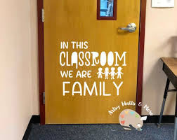 In This Classroom We Are Family Wall Vinyl Decal Classroom Etsy