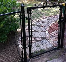 Black Chain Link Fence Gate Single Swing Gate Wheel Assembly For Chain Link Fence Procura Home Blog Black Chain Link Fence Gate