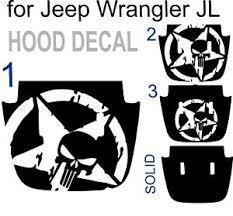 Us Army Star Punisher Hood Decal Sticker For Jeep Wrangler Jlu Jl Military Ebay