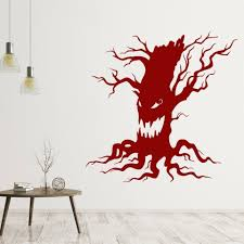 Halloween Wall Decal Creepy Tree Crazy Style Art Mural Vinyl Window Stickers Party Club Amusement Interior Decor Removable M880 Wall Stickers Aliexpress