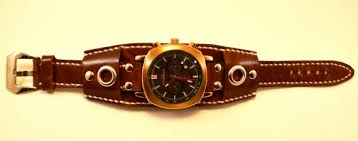 handmade leather watch strap steampunk
