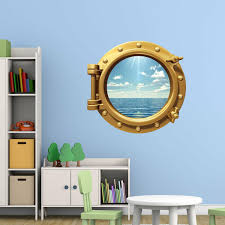 Breakwater Bay Cruise Ship Sea Cruise Porthole Window Peel And Stick Removable Wall Decal Reviews Wayfair