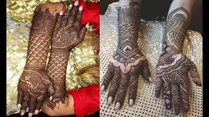simple mehndi design for wedding girl