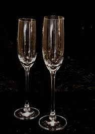 lenox champagne flutes 10tall with a