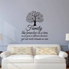 Family Wall Decal Quotes Family Like Branches On A Tree Inspirational Quote Wall Decals Vinyl Lettering Wall Art Stickers Jw100 Quote Wall Decal Family Wall Decalwall Decals Quotes Aliexpress
