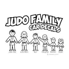 Judo Family Car Decals Black Judo Market
