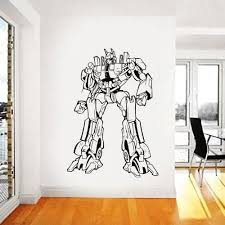 Amazon Com Transformers Wall Decal Prime Wall Sticker Bumblebee Wall Decal Kids Wall Sticker Bedroom Wall Sticker Nursery Wall Decal Kau 258 Handmade