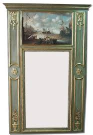 french trumeau mirror with marine paint