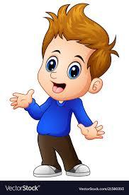 cute boy cartoon posing royalty free