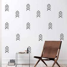 Amazon Com Set Of 12 Vinyl Wall Art Decals Arrows 8 X 4 Each Modern Sticker Pattern For Home Office Bedroom Nursery Living Room Urban Lifestyle Minimalist Playroom Apartment
