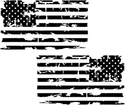 Distressed American Flag Premium Vinyl Decal American Flag Decal Vinyl Decals Flag Decal