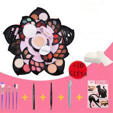 full set open as rose flower makeup kit