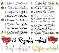 Custom Text Personalised Name Decal Yeti Laptop Car Window Shop Glitter Sticker Ebay