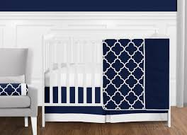 11 pc navy blue and white modern