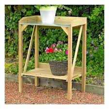 kingfisher wooden potting bench