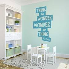 Think And Wonder Dr Seuss Wall Sticker Decal Vinyl Wall Art Decals Room Wall Decals