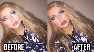 insram model ft youcam makeup