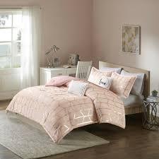 modern chic pink gold white love