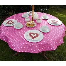 pink polka dot with parasol hole 55