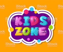Kids Zone Label Colorful Children Playroom Sticker Baby Play Area Decoration Vector Sign Stock Illustration Download Image Now Istock