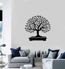 Vinyl Wall Decal Bonsai Tree Japanese Home Interior Japan Art Stickers Wallstickers4you