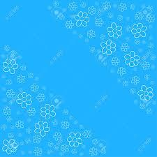 Marco Floral Abstracto Sobre Un Fondo Azul Para Impresiones
