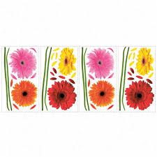 Gerber Daisies Wall Decals Wall Decals The Home Flooring Online Catalog