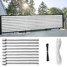 Privacy Screen Pergolas Para Exterior Mesh For Backyard Deck Patio Balcony Pool Fence Grey White 16 4 3 Ft Shade Sails Nets Aliexpress