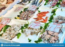 Fresh seafood for sale stock photo ...