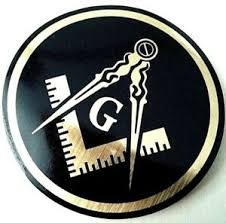 Masonic Decal Black 3 5 Logo Freemason Car Gold Gift Laptop Freemasonry Sticker Ebay