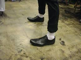Image result for shoe leather and white socks