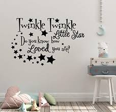 Amazon Com 35 X24 Twinkle Twinkle Little Star Do You Know How Loved You Are Child Son Daughter Stars Wish Family Love Wall Decal Sticker Art Mural Home Decor Home Kitchen