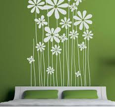 Tall Daisies Wall Sticker Tenstickers