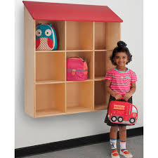 Shop Whitney Brothers Kids Wall Mounted Red Roof Book Shelf Overstock 9464104
