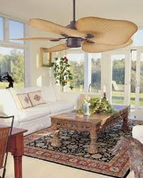 indoor or outdoor ceiling fan palm leaf