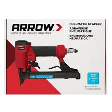 Arrow Pt50 Pneumatic Staple Gun Pt50 The Home Depot