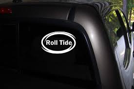 Amazon Com Decor Vinyl Store Roll Tide Alabama Crimson Tide College Football Sec Car Truck Window Decal 6 Wide X 3 5 Tall Automotive