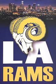 Rams Vinyl Adhesive Wall Graphic Sticker Wall Art Los Angeles Pro Football Ebay
