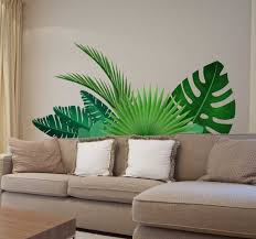 Tropical Leaves Wall Sticker Tenstickers