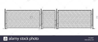 Realistic Metal Chain Link Fence Rabitz Art Design Gate Cemetery Fence Hedge Prison Barrier Secured Property The Chain Link Of Hedge Wire Mesh Stock Vector Image Art Alamy
