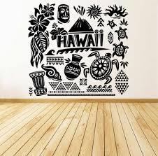 New Arrival Vinyl Wall Stickers Decal Creative Home Decor Art Pattern Hawaii Island Beach Fun Tiki Turtle Sea Ocean Mural Zb168 Decoration Art Home Decorvinyl Wall Aliexpress