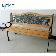 outdoor bench wood slats cast iron leg