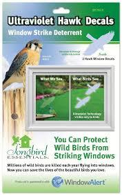 Hawk Transparent Static Cling Window Decals Window Strike Deterrent Perch Birding Gifts Supplies