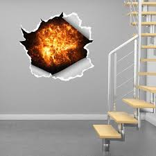 3d Broken Hole Wall Decor Stickers Diy Self Adhesive Art Wall Decal Murals For Kids Bedroom Ceiling Nursery Room Wall Stickers Aliexpress