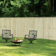 Severe Weather 6 Ft H X 8 Ft W Spruce Pine Fir Stockade Fence Panel In The Wood Fence Panels Department At Lowes Com