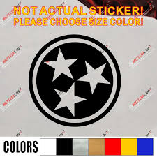 Flag Of Tennessee 3 Stars Decal Sticker State Car Vinyl Pick Size Color Roundel Die Cut No Background Car Stickers Aliexpress