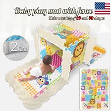 Shop Baby Play Mat With Fence Baby Crawl Mat Puzzle Play Bubble Tile Non Toxic Toy Online From Best Gag Toys Practical Jokes On Jd Com Global Site Joybuy Com