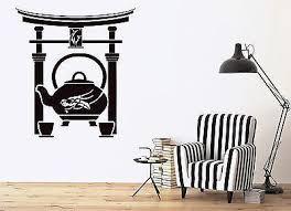 Wall Sticker Oriental Tea Ceremony Teapot Cup Dragon Teahouse Vinyl De Wallstickers4you