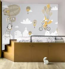 Nursery Hot Air Balloon And White Home Silhouette Wall Decal Sticker Wall Decals Wallmur